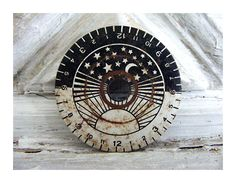 Moon and Stars Limited Edition 1/100 Giclee of Clock Face/Dial. $95.00, via Etsy.