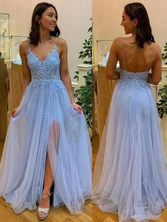 Baby Blue Prom Dresses, Blue Lace Prom Dress, Prom Dresses Two Piece, Prom Dresses Blue, Formal Evening Dresses, Ball Dresses, Homecoming Dresses, Junior Prom Dresses, Best Prom Dresses