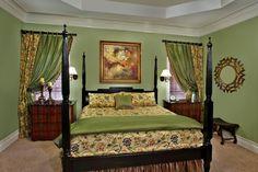 Valerie Garrett Interior Design. Macon, Georgia. Green Bedroom.