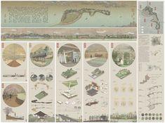 Japan Architecture, Architecture Concept Drawings, Architecture Board, Architecture Graphics, Green Architecture, Architecture Portfolio, Japanese Garden Landscape, Chinese Landscape Painting, Landscape Model
