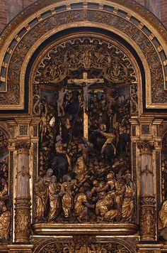Roskilde, Sjælland, Domkirke, altar, crucifixion