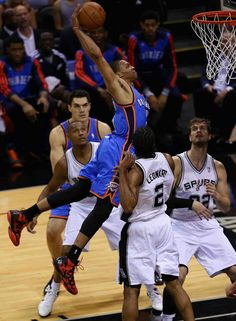 Russell Westbrook Thunders vs Spurs Western Conference Finals Playoffs 2014