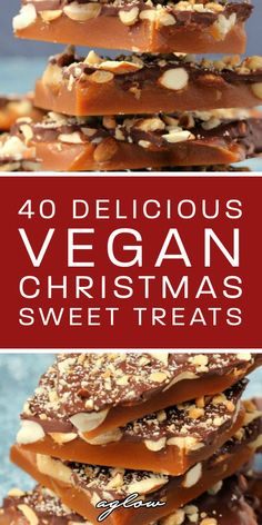 40 Delicious Vegan Christmas Sweet Snacks & Desserts These snacks and desserts are totally vegan. From vegan Christmas brownies, to vegan peppermint cookies. They'll make the holiday season unforgettable. Vegan Christmas Desserts, Vegan Christmas Dinner, Vegan Christmas Cookies, Christmas Brownies, Christmas Cooking, Christmas Sweets, Thanksgiving Holiday, Winter Holiday, Christmas Holiday