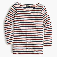 J. Crew Boatneck T-shirt in multicolor stripe