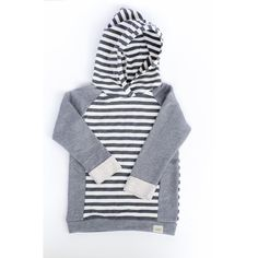Charcoal & White Striped Hoodie / Baby Boy Hoodie / Baby Girl Hoodie by SimpleSawyer on Etsy https://www.etsy.com/listing/223174364/charcoal-white-striped-hoodie-baby-boy
