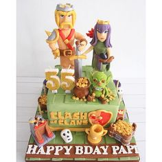 sugarministry: Clash of Clans cake! Yess it contains gold & elixir Also we have other cakes in our store. We're open from - Clash Of Clans, Birthday Cake, Clash Royale, Sugar, Cakes, Desserts, Gold, Instagram, Decor