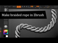Zbrush Tutorial : How to Create braided rope | All CG Tutorials