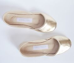 ..soft leather flats~ in gold