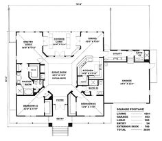 First Floor of Plan ID: 17425