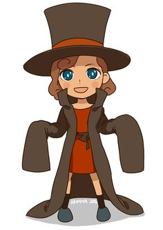 Quick drawing of small Lady Layton!! :D