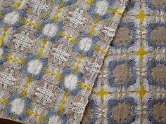 Deflected double weave scarf--linen, cotton silk. Woven by Susan W. Gilday