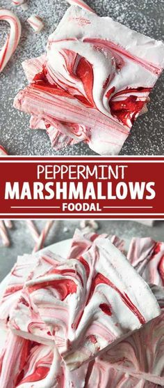 Homemade Peppermint Marshmallows: Bright Cheer in the Cold of Winter - - Savor each sweet holiday moment with homemade peppermint marshmallows. Enjoy them with hot chocolate by the fire on a cold winter night. Flavored Marshmallows, Recipes With Marshmallows, Chocolate Marshmallows, Chocolate Flavors, Hot Chocolate, Cream Cheese Fruit Dip, Gourmet Marshmallow, Marshmallow Recipes, Creamy Fruit Salads
