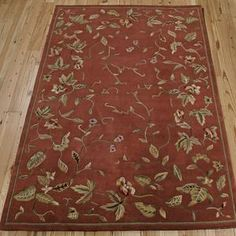 Nourision x Persimmon Area Rug Kitchen Runner, Accent Rugs, The Ordinary, Hand Carved, Vines, Area Rugs, Carving, Wool, Luster