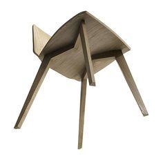 FINN ergonomic molded plywood chair on Behance