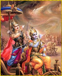"""✨ HAPPY GITA JAYANTI ✨  """"Wherever there is Krishna, the master of all mystics, and wherever there is Arjuna, the supreme archer, there will also certainly be opulence, victory, extraordinary power, and morality. That is my opinion.""""~Bhagavad Gita as it is 18.78"""