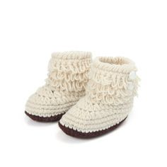 Handmade baby Crochet Knit Botties