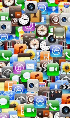 たくさんのアプリのiPhone壁紙 | 壁紙キングダム スマホ版