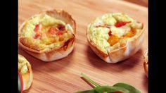 Vídeo Receita: aprenda a fazer mini quiches de tortilla!                                                                                                                                                                                 Mais