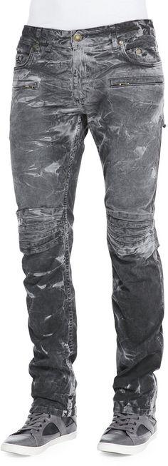 Robin's+Jeans+Robin's+Jean+Thunder+Wash+Moto+Jeans,+Black