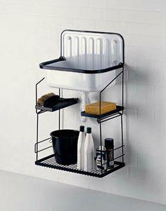 Lavabo lave-linge suspendu / en acier - by Alape - Alape Laundry Shelves, Laundry Room Signs, Sink Design, Küchen Design, Alape Bucket Sink, Trough Sink, Small Toilet, Shower Remodel, Small Bathroom