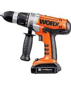 Worx WX368.3 Lithium Ion Hammer Drill with 2 Batteries - 18V