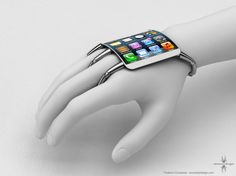 "Awesome mockup of an ""in the works"" Apple product that is wearable!!!  Sawweeeeet!"
