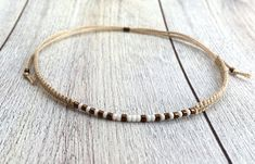 Minimalist makramee bracelet with miyuki beads in bronze, friendship bracelet, beige, adjustable closure, one size fits all Beaded Braclets, Handmade Bracelets, Metallic, Hoop Earrings, Bronze, Beads, Etsy, Jewelry, Fashion