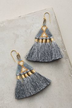 Slide View: 1: Tri Tassel Earrings