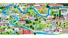 Map of Southwest London - Debbie Ryder