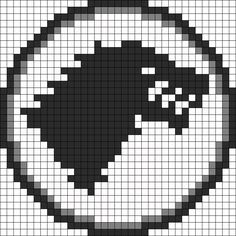 Game Of Thrones Stark Sigil perler bead pattern