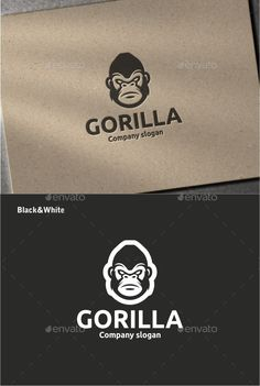 Gorilla Logo Design Template Vector #logotype Download it here: http://graphicriver.net/item/gorilla/12093011?s_rank=1754?ref=nexion