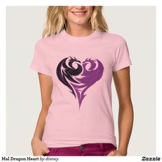 Mal Dragon Heart T-shirt  Disney Descendants Shirt available on many other styles in all sizes for men women and children.