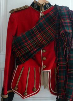 WW1 era Officer doublet Cameron Highlanders Scottish jacket