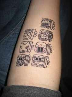 Tattoo Idea... mayan glyph tattoo bracelet as a armband ...