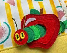 Felt Book Very Hungry Caterpillar Gift for birthday Gift for | Etsy Felt Fruit, Felt Food, Learning Games For Kids, Early Learning, Very Hungry Caterpillar, Knitting Toys Easy, Chocolate Orange, Sensory Toys, Toddler Gifts