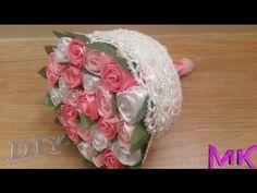 Свадебный Букет Дублер из лент  Розы из лент МК✔ ℳAℛίℕℰ DIY✔