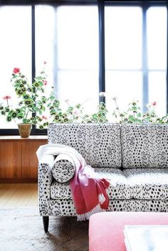 speckled sofa