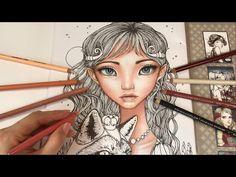 (11) Princess Phoebe - Part 1: Skin Coloring | Inklings Coloring Book by Tanya Bond - YouTube