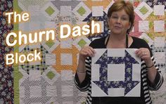 With only a few elements - triangles, rectangles, and squares - the churn dash block is a great quilt block for beginners.