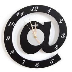 De la moda moderna creativa @ forma alfabeto reloj de pared del arte del arte accesorios de adorno para el hogar, la oficina y la colección de arte