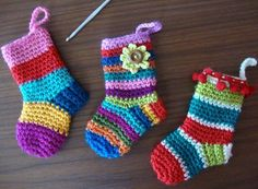 Mini Christmas Stockings Crochet Pattern
