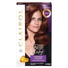 Clairol Nice 'n Easy Age Defy Permanent Hair Color - Medium Auburn - 1 Kit Medium Golden Brown, Golden Blonde Hair, Luminous Colours, Hair Breakage, Permanent Hair Color, Cool Hair Color, Hair Colour, Packaging, Makeup