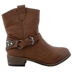 Women's Western Chunky Heel Fur Lined Ankle Boot Trends SNJ Shoes >>> Check this awesome image  : Western boots