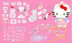 Perler Bead Disney, 3d Perler Bead, Perler Patterns, Bead Patterns, Hamma Beads 3d, Pixel Art, Pikachu, Hello Kitty, Cross Stitch