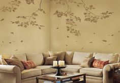 Wall Stencils Sycamore Branches 3 pc by CuttingEdgeStencils