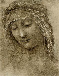 Leonardo da Vinci - Study for the head of Saint Anne
