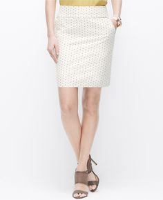 Stretch Dot Jacquard Mini Skirt