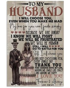 Mountain Biking Discover Perfect Gifts For Husband - To My Husband Poster Perfect Gifts To My Husband Poster Love Quotes For Her, Cute Love Quotes, Love My Husband Quotes, Message For Husband, To My Future Husband, Soulmate Love Quotes, Husband Love, Quotes For Him, Husband Humor