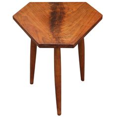 A Superb Hexagonal Studio Side Table | From a unique collection of antique and modern side tables at http://www.1stdibs.com/furniture/tables/side-tables/