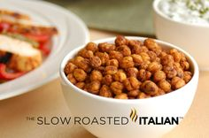 The Slow Roasted Italian: A healthy snack, crunchy like a corn nut, with the perfect flavor and a nice dose of protein and a little kick to wake your taste buds up.